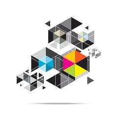 Hexagon pattern background design vector