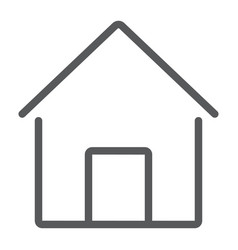 home line icon house and building button sign vector image