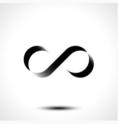 Infinity symbol or logo design isolated on white b vector
