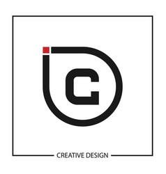 Initial letter c logo template design vector