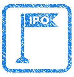 ipo flag marker framed stamp vector image