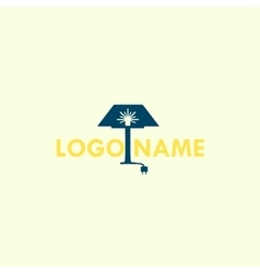 Lamp logo icon for furniture store home vector