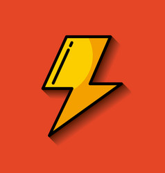 Lightning ray or bolt imag vector