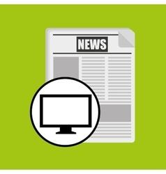 Monitor pc news digital design vector
