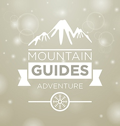 Mountain guides adventure vector image