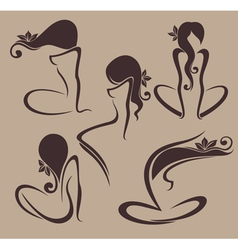 Naked and beauty vector