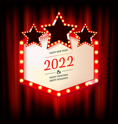 new year marquee 2022 vector image