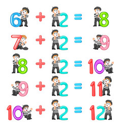 Number increment from 8 until 12 vector
