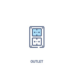 Outlet concept 2 colored icon simple line element vector