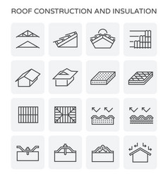 roof construction icon vector image