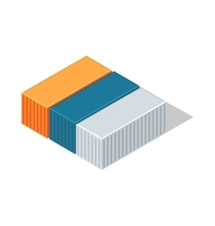 Sea Containers in Isometric Projection vector image