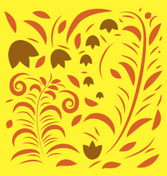 Seamless floral pattern backgrounds with leaves vector
