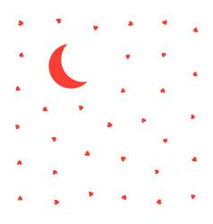 seamless pattern heart moon vector image