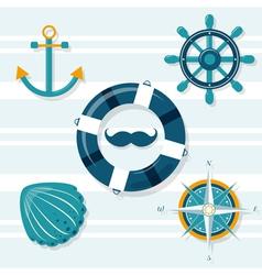 set five nautical vector image