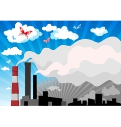 smog over town vector image