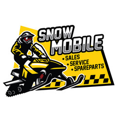 snowmobile store and garage design vector image