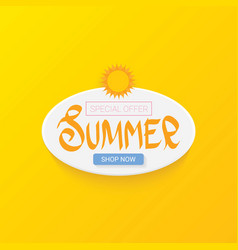 Special offer summer label design template vector