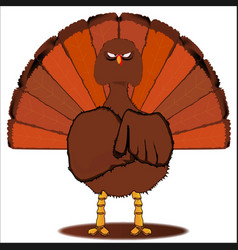 Stern christmas turkey vector