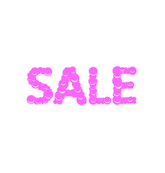 sweet sale text vector image