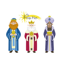 Three magic kings isolated on white vector