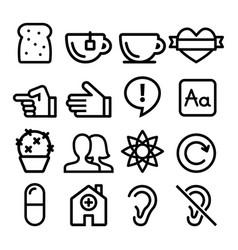 web line icons website navigation flat design vector image vector image