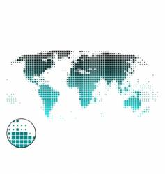 world map of squares vector image