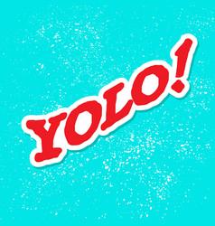 yolo grunge background vector image