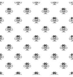 Zombie nightmare pattern seamless vector