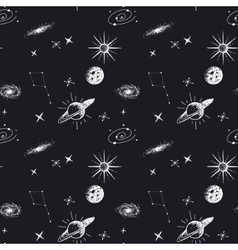 astronomy seamless pattern vector image vector image