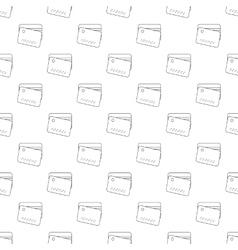 Credit card seamless vector image