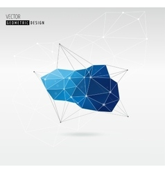 Polygonal Geometric abstract trendy background vector image vector image