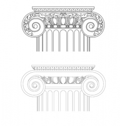 vintage architecture vector image vector image