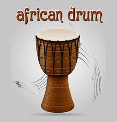 african drum musical instruments stock vector image