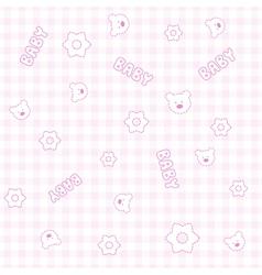 Baby Girl Teddy Pattern vector image vector image