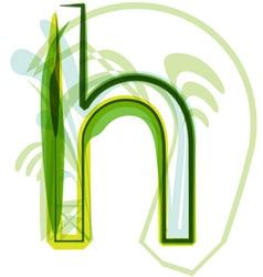 Green letter H vector image