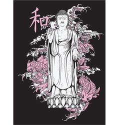 japanese t-shirt design vector image