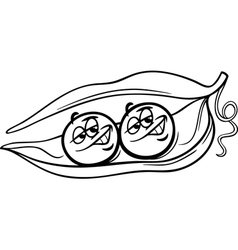 like two peas in a pod coloring page vector image vector image