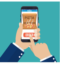 online order pizza vector image vector image