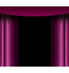 purple curtain vector image vector image