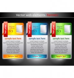 web elements sale banners vector image