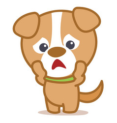 Collection character dog pets vector