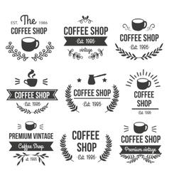 Hand Drawn Coffee Label Set vector image