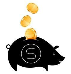 Money Saving bank vector image