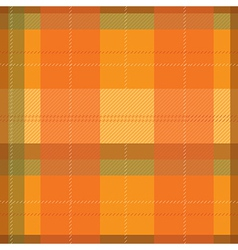Orange tartan plaid pattern vector