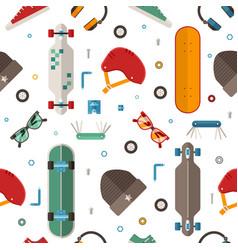 skateboard pattern background vector image vector image