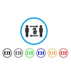 swingers exchange girl rounded icon vector image