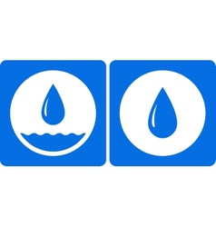 two water droplet icon vector image