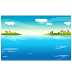 Water Landscape houses vector image