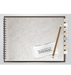 white note book paper vector image