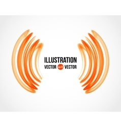 abstract white and orange background vector image vector image